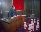 The Finance Director of Rosebud Dolls is confronted by 8 dolls that could walk!