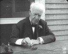 Film of Thomas Edison in 1928