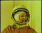 Yuri Gagarin prior to take-off