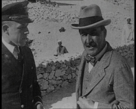 Howard Carter at the tomb of Tutankhamun. Click the still to view the collection.