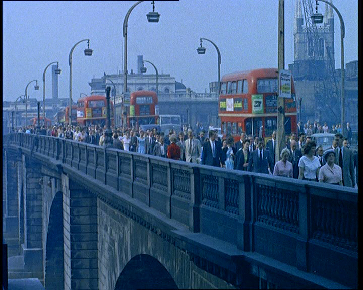 Heading off to work in the morning, London (1960)