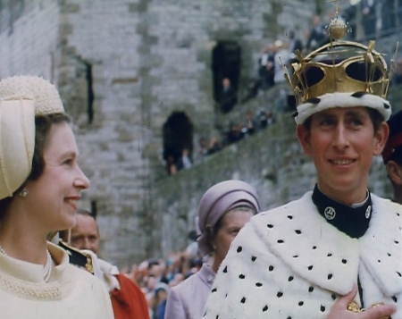 Prince Charles with the Queen