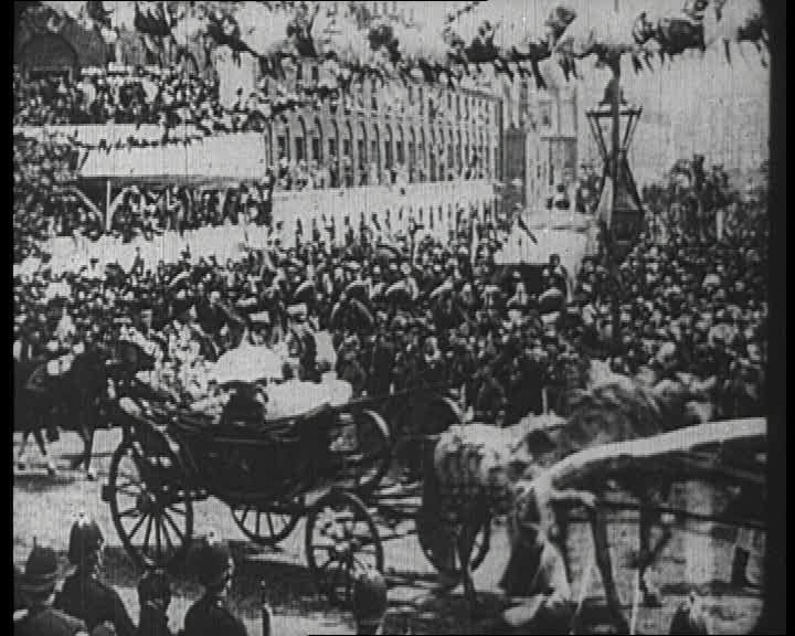 The Diamond Jubilee of Queen Victoria in 1897. Click the still to view the film.