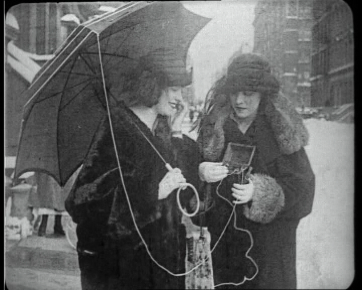 One of our favourites, this. A film from 1922 shows what appears to be an early mobile phone!