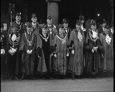 Almost every Sheriff in Britain is at the ceremony of Exeter's 400th anniversary in this 1937 film. Click the still to view it.