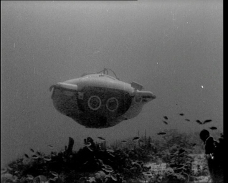 Some pioneering technology can be seen in this 1960 footage of a new sub designed by the famous French explorer Jacques Cousteau. Click the still to view the film.