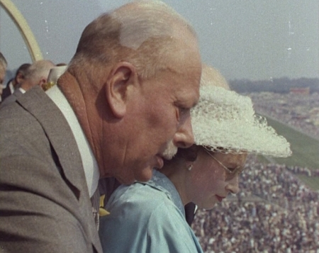 Prince Henry, the Queen's Uncle, watching the racing with his niece