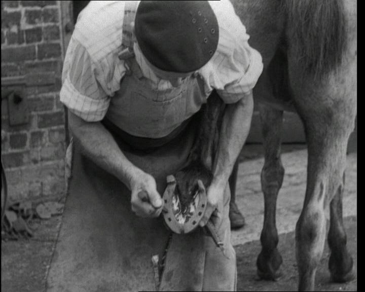 A look at the work of village blacksmith Arthur Booth. Near Darlington, Durham, 1943. Click the still to view the film.