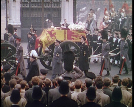 The funeral of George VI, London (1952)