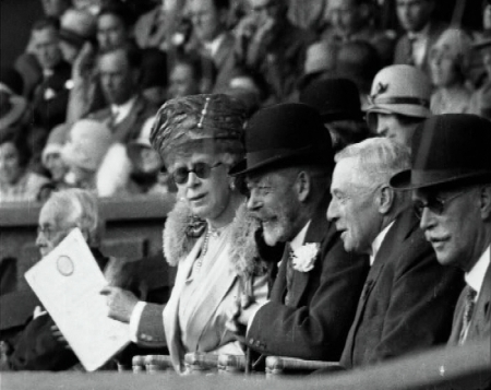 Queen Mary of Teck watching Wimbledon
