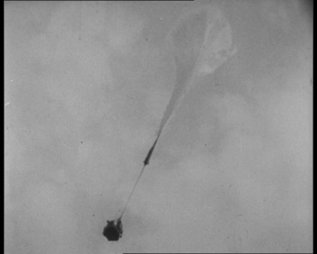 In 1960, balloonist Captain Joseph W Kittinger made the then-highest ascent and longest jump. Click the still to view the film.