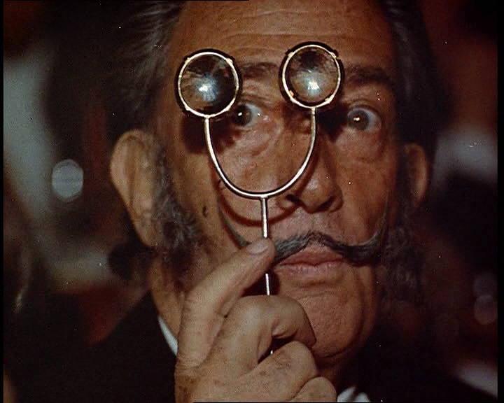Salvador Dali, with his famous moustache.