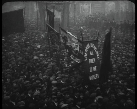 10,000 workers demonstrate in Trafalgar Square - 2,500 similar demonstrations were held in other parts of country - on Unemployment Sunday in 1923. Click the still to see our archive of unemployment-related clips.