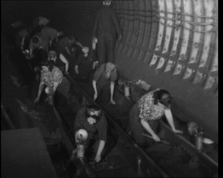 "A look at ""Fluffies"" who clean the Tube at night (1944). Click the still to view the film."