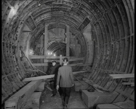 The Victoria Line under construction during the 1960s. Click the still to view a film celebrating the work reaching the half-way point.