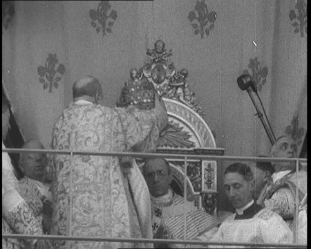Pope Pius XII is crowned, 1939.