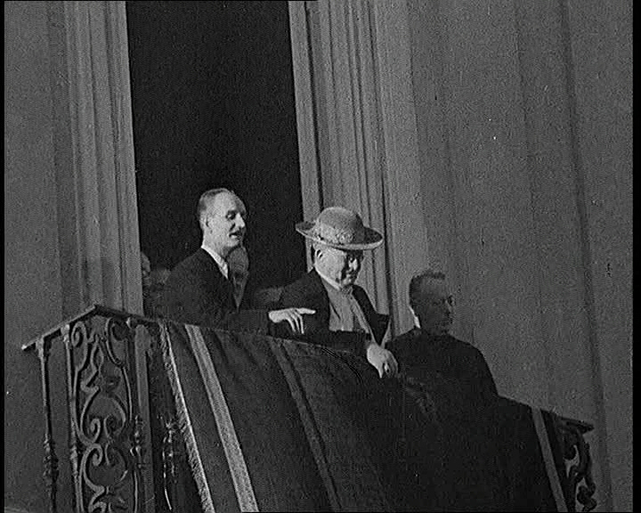 Pope Pius XI has a public appearance after recovering from a heart attack, 1938.
