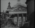 """Berlin. Martial law in Germany, follows burning of the Reichstag on eve of fateful General Election."" Click the still to view the newsreel."