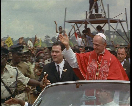 The Pope visits Uganda, 1969.