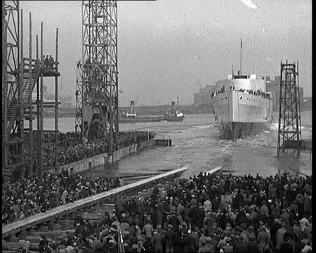 HMS Belfast is launched on 17th March 1938. Click the still to watch the British Pathé footage.