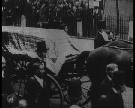 Image: Horse-drawn hearse of William Gladstone.