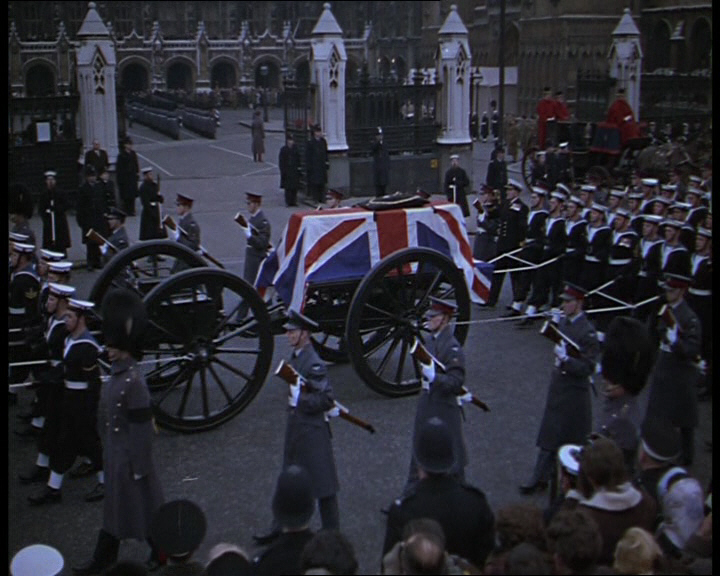 The state funeral of Winston Churchill. Click the still to view the film.