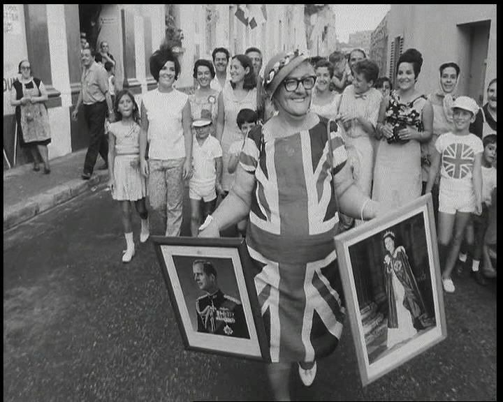 Citizens of The Rock take to the streets to campaign during the referendum over the sovereignty of Gibraltar in 1967.